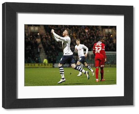 Football Soccer - Preston North End v Charlton Athletic - Sky Bet Football League Championship - Deepdale - 23/2/16   Joe Garner (L) celebrates scoring the first goal for Preston North End   Mandatory Credit: Action Images / Ed Sykes   Livepic