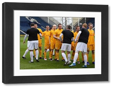 During the Charity Football match at Deepdale Preston on Sunday 1st May 2016     Copyright