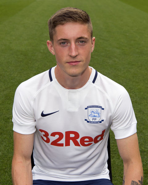 Michael Howard's 2018 PNE head shot, wearing the 2018/19 PNE home kit