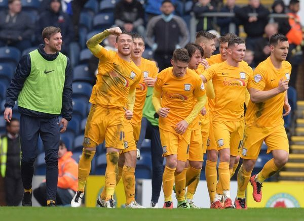 Football Soccer - Blackburn Rovers v Preston North End - Sky Bet Football League Championship - Ewood Park - 2/4/16   Preston's Joe Garner celebrates after scoring their first goal from a penalty   Mandatory Credit: Action Images / Paul Burrows