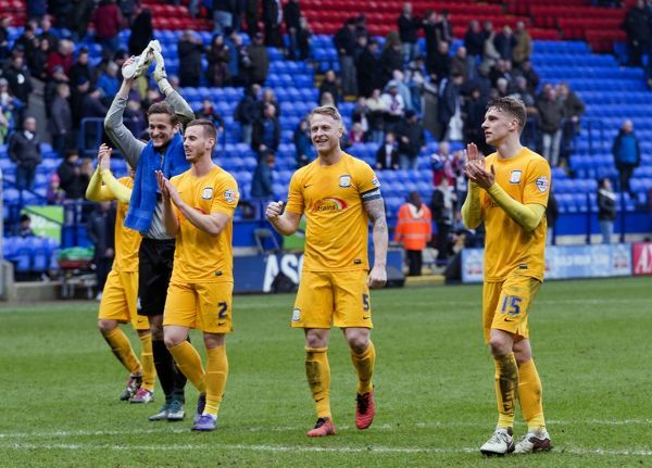 Preston North End 2015/16 Season: Bolton Wanderers v Preston North End, Saturday 12th March 2016, SkyBet Championship