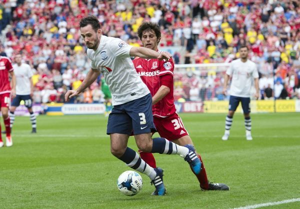 Preston North End 2015/16 Season: PNE v Middlesbrough, 9th August 2015, SkyBet Championship