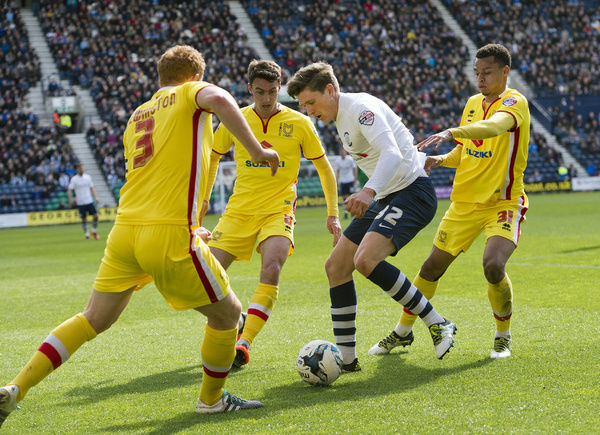 Preston North End 2015/16 Season: PNE v MK Dons, Saturday 16th April 2016, SkyBet Championship