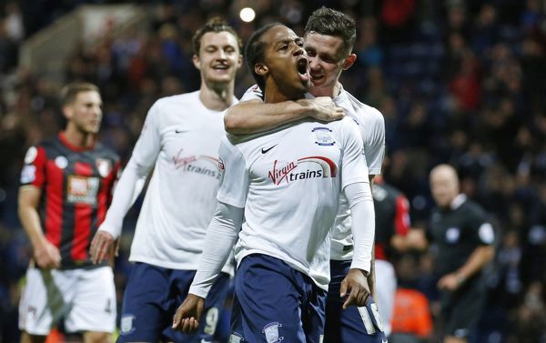 Football - Preston North End v AFC Bournemouth - Capital One Cup Third Round - Deepdale - 22/9/15   Daniel Johnson celebrates after scoring the second goal for Preston from the penalty spot   Mandatory Credit: Action Images / Carl Recine   Livepic
