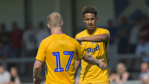 DK Flyde v PNE, Callum Robinson and Daryl Horgan Yellow Kit