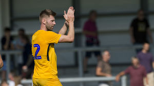 DK Flyde v PNE, Paul Gallagher Yellow Kit (1)