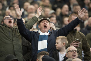 PNE Fan Joins In With The Crowd