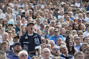 PNE Fan Stands Out In A Crowd