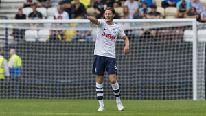 PNE v West Ham United Ben davies Home kit (2)