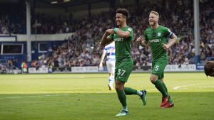 QPR v PNE Callum Robinson and Tom Clarke Goal Celebration (1)